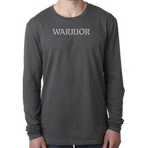 "Mens ""Warrior Text"" Long Sleeve Tee Shirt - Yoga Clothing for You - 2"