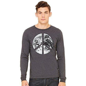 Mens Peace Earth Long Sleeve Tee