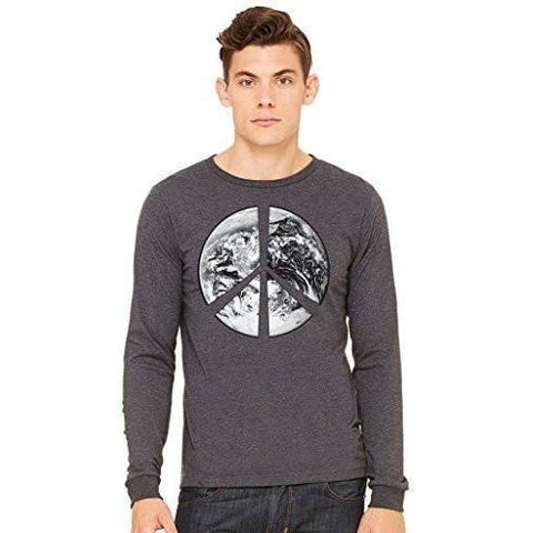 Yoga Clothing for You Mens Peace Earth Long Sleeve Tee