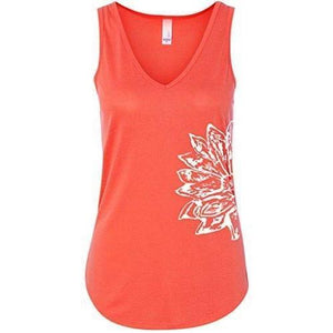 Womens Sketch Lotus Flowy Tank - Side Print - Yoga Clothing for You - 3