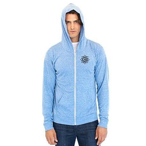 Men's Eco Black Lotus Om Patch Full Zip Hoodie - Yoga Clothing for You - 2