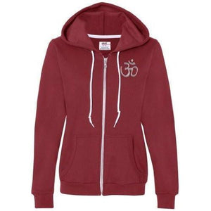 Womens Hindu Aum Full Zip Hoodie - Yoga Clothing for You - 6