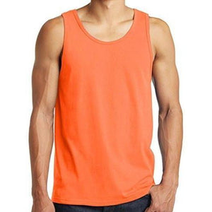 Mens Neon Orange Tank Top Shirt - Yoga Clothing for You