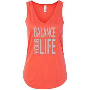"Womens ""Balance Your Life"" Flowy Yoga Tank Top - Yoga Clothing for You - 3"