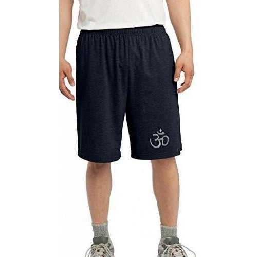 Mens Hindu Patch Symbol Shorts - Bottom Print - Yoga Clothing for You - 1