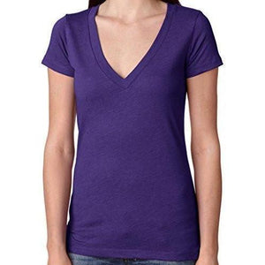 Womens Lightweight Deep V-neck Tee Shirt - Yoga Clothing for You - 6