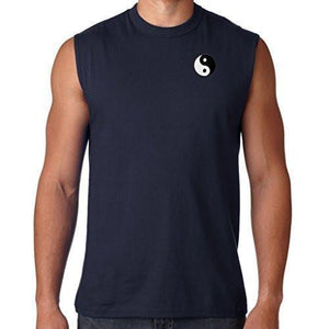 Mens Yin Yang Patch Sleeveless Tee - Pocket Print - Yoga Clothing for You - 5