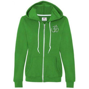 Womens Hindu Aum Full Zip Hoodie - Yoga Clothing for You - 5