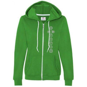 Ladies 7 Chakras Full Zip Hoodie - Yoga Clothing for You