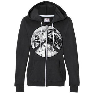 Womens Peace Earth Full Zip Hoodie - Yoga Clothing for You - 1