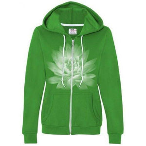 Womens Lotus Flower Full Zip Hoodie - Yoga Clothing for You - 5
