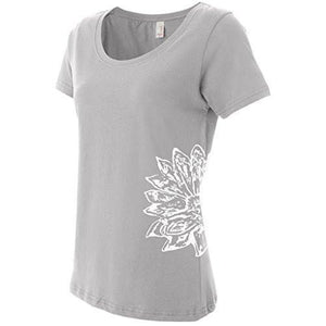 Womens Lotus Flower TShirt - Yoga Clothing for You - 9
