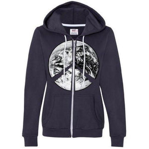Womens Peace Earth Full Zip Hoodie - Yoga Clothing for You - 6