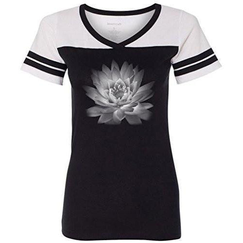 Womens Lotus Flower Tee Shirt - Yoga Clothing for You - 1