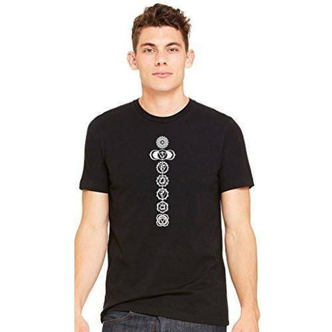 Yoga Clothing for You Men's 7 White Chakras Yoga T-shirt