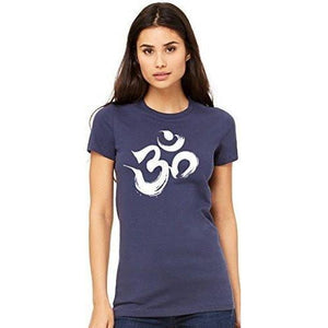 Ladies Brustroke OM Yoga Tee Shirt - Yoga Clothing for You