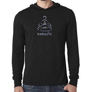 "Mens ""Namaste Lotus"" Lightweight Hoodie Tee Shirt - Yoga Clothing for You"