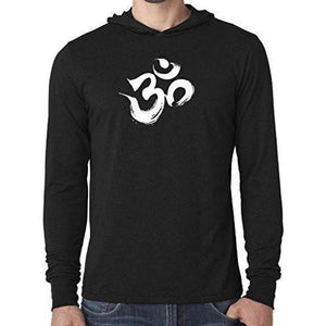 Mens Brushstroke AUM Thin Hoodie Tee Shirt - Yoga Clothing for You - 6