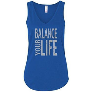"Womens ""Balance Your Life"" Flowy Yoga Tank Top - Yoga Clothing for You - 7"