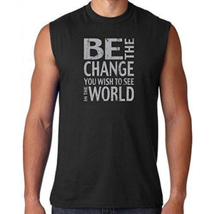 "Mens ""Be the Change"" Muscle Tee Shirt - Yoga Clothing for You"