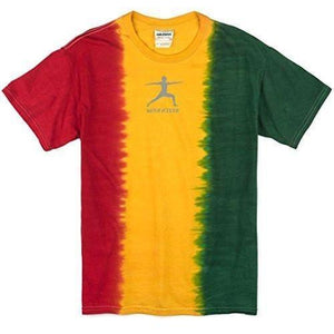 Mens Warrior Pose Rasta Tie Dye T-Shirt - Yoga Clothing for You