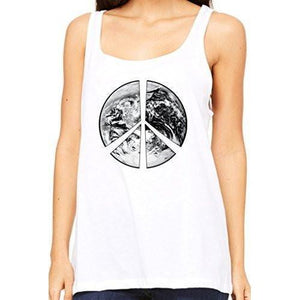 Womens Relaxed Peace Earth Tank Top - Yoga Clothing for You - 5
