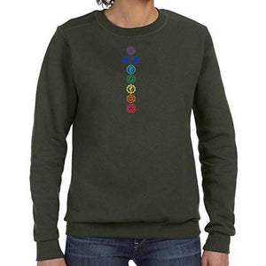 Womens Colored Chakras Lightweight Sweatshirt - Yoga Clothing for You - 4