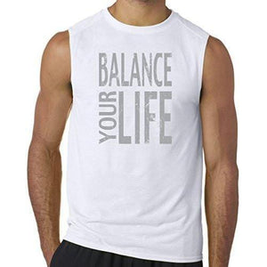 "Mens ""Balance"" Muscle Tee Shirt - Yoga Clothing for You - 6"