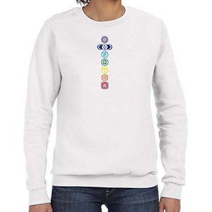 Womens Colored Chakras Lightweight Sweatshirt - Yoga Clothing for You - 2