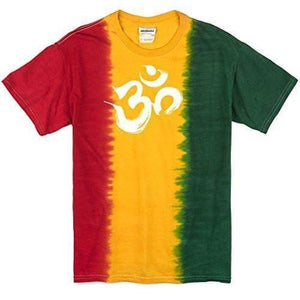 Mens Rasta Brushstroke AUM Tee Shirt - Yoga Clothing for You
