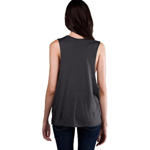 Womens Deep Side Cut Muscle Tank Top - Yoga Clothing for You - 2