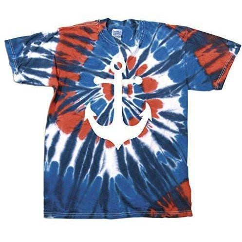 Mens Anchor Tie Dye Tee Shirt - Yoga Clothing for You - 1