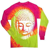 Mens Big Buddha Head Long Sleeve Tee Shirt - Yoga Clothing for You - 3