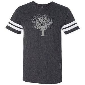 Mens Tree of Life Striped Tee Shirt - Yoga Clothing for You - 3