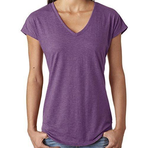 Ladies Hot V-neck Tee Shirt - Yoga Clothing for You