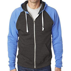Mens Color Contrast Zip Hoodie - Yoga Clothing for You - 3