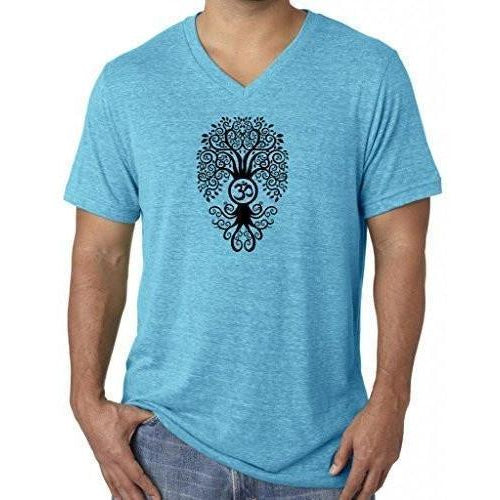 Bodhi Tree Tri Blend V-neck Tee Shirt - Yoga Clothing for You
