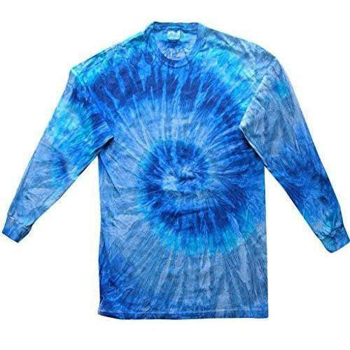 Mens Tie Dye Long Sleeve Tee Shirt - Yoga Clothing for You - 1