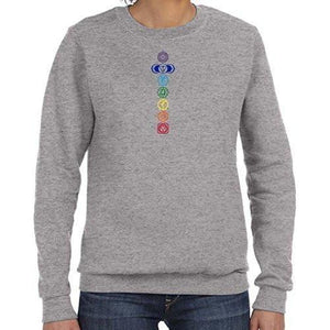 Womens Colored Chakras Lightweight Sweatshirt - Yoga Clothing for You - 6