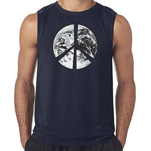 "Mens ""Peace Earth"" Muscle Tee Shirt - Yoga Clothing for You - 4"