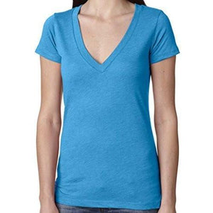 Womens Lightweight Deep V-neck Tee Shirt - Yoga Clothing for You - 16