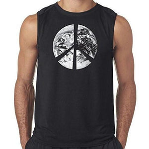 "Mens ""Peace Earth"" Muscle Tee Shirt - Yoga Clothing for You"
