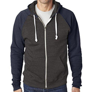 Mens Color Contrast Zip Hoodie - Yoga Clothing for You - 2