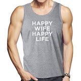 """Happy Wife"" Mens Lightweight Tank Top - Yoga Clothing for You"