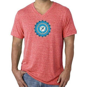 "Mens ""Vishuddha Chakra"" V-neck Tee Shirt - Yoga Clothing for You - 14"