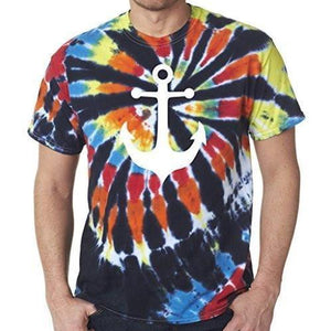 Mens Anchor Tie Dye Tee Shirt - Yoga Clothing for You - 5