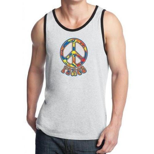 96a5cc993d4891 ... Mens Funky 70s Peace Sign Tank Top - Yoga Clothing for You - 4