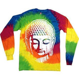 Mens Big Buddha Head Long Sleeve Tee Shirt - Yoga Clothing for You - 4