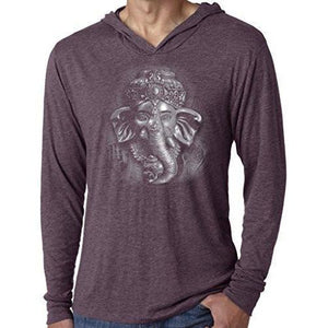 Mens 3D Ganesh Thin Hoodie Tee Shirt - Yoga Clothing for You - 7