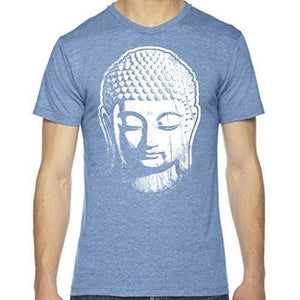 Mens Big Buddha Head Lighweight Tee Shirt - Yoga Clothing for You - 1